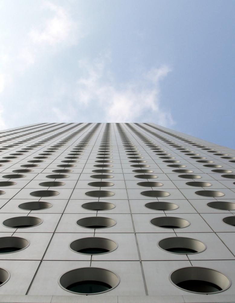 Fassade des berühmten Jardine House in Hong Kong