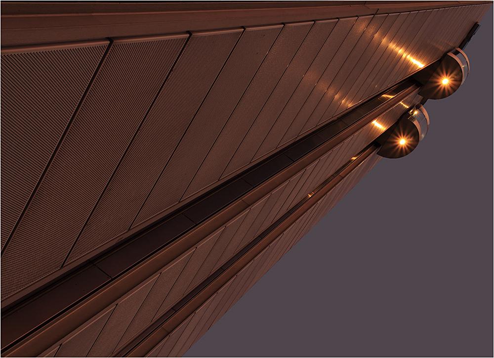 Fassade im Abendlicht