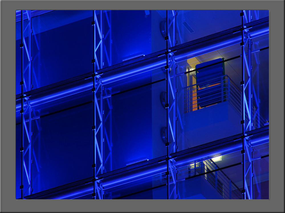 Fassade in Blue