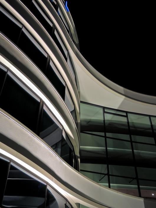 Fassade in Glas und Stahl