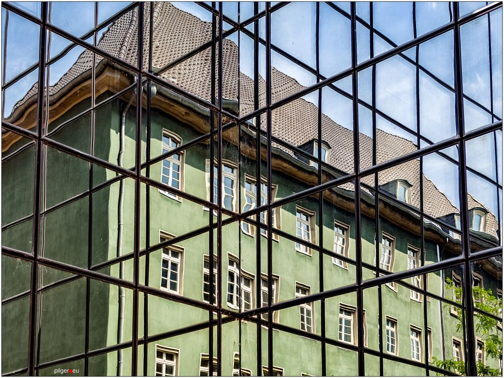 Fassade in Grün