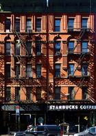 fassade mit starbucks coffee