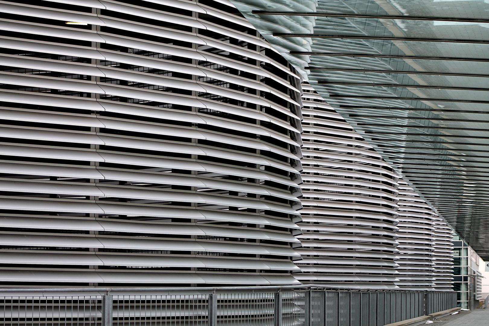 Fassade Parkhaus Messe München