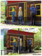 Fassaden Kunst / Graffiti Lego in Bernau bei Berlin