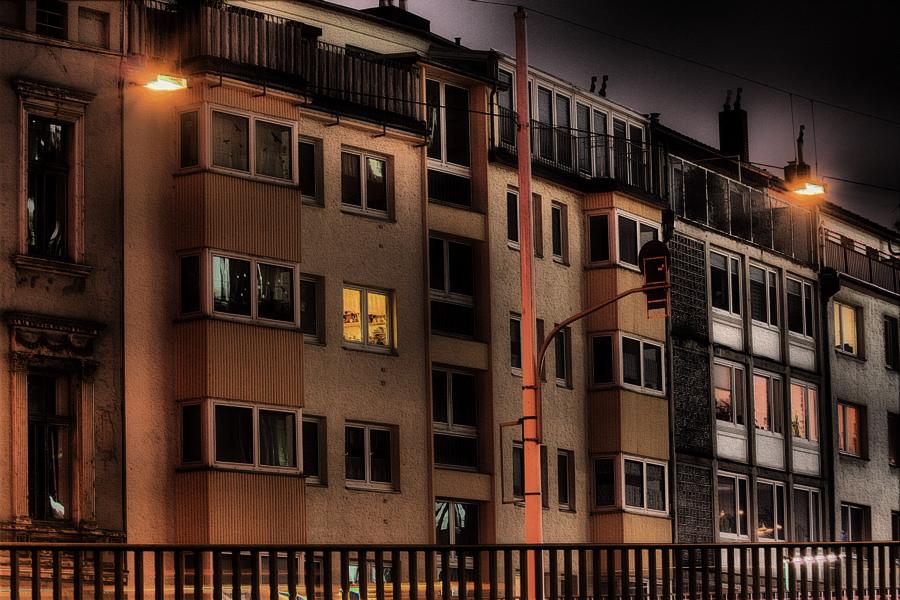 Fassaden mit Geländer