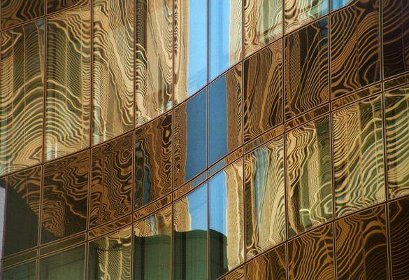 Fassaden-Moire am Potsdamer Platz