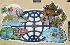 Fassadenmalerei eines Reisebüros von Günter Walther