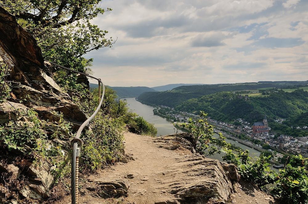 Fast oben angekommen, rechts im Bild liegt Oberwesel.