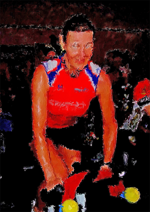 Faszination Indoor-Cycling IV mit Mal-Filter in Aquarell