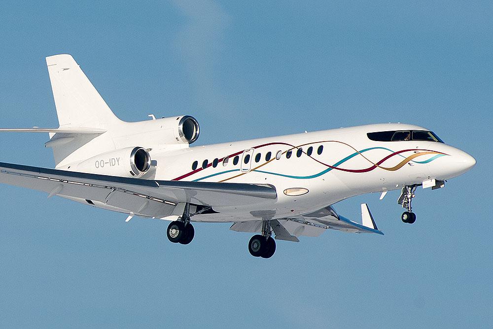 Faszinierende Lackierungen: OO-IDY Dassault Falcon 7X Flying service