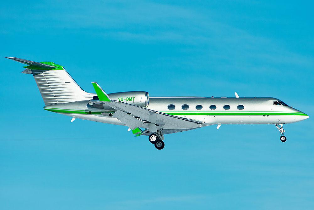 Faszinierende Lackierungen: VQ-BMT Gulfstream IV SP
