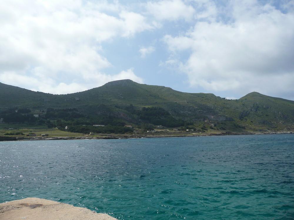 Favignana-Insel Ansicht aus der Hafen....