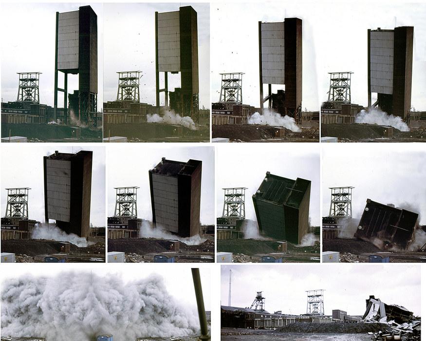 Februar 1988 - Sprengung Förderturm Zeche Gneisenau I