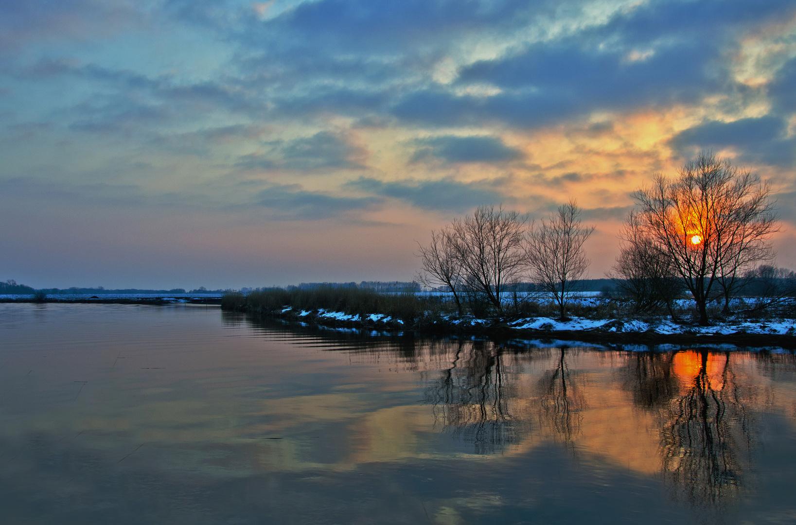 Februarabend an der Oste