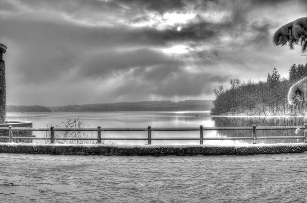 Februarmorgen am Möhnesee