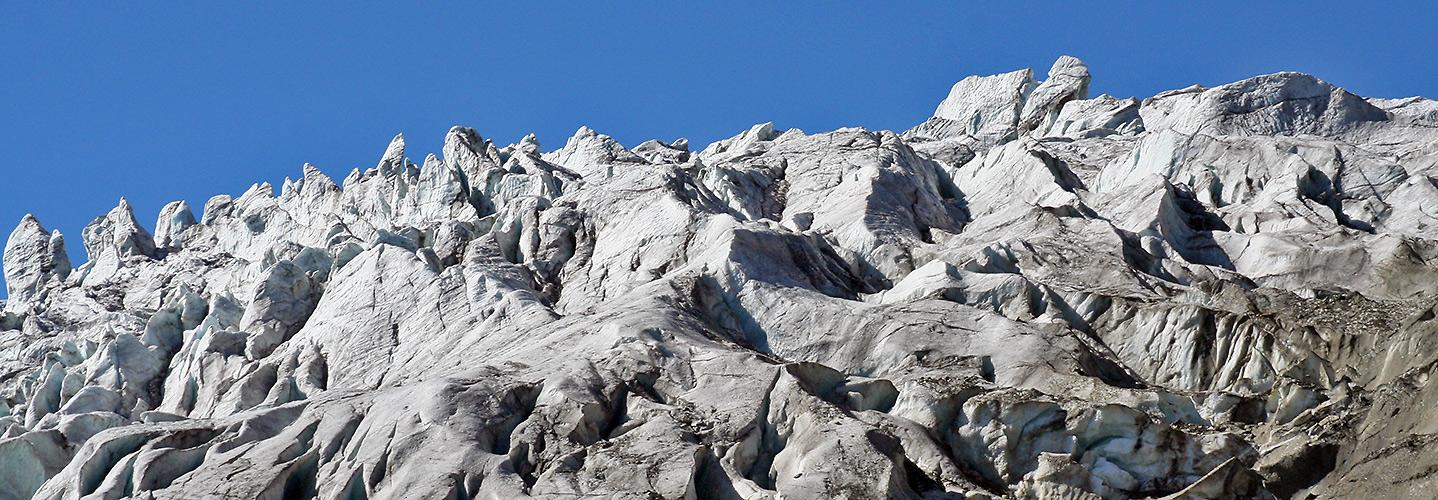 Feegletscher aus 2600 Metern festgehalten und bei der letzten...
