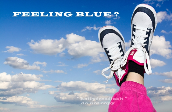 Feeling blue? Just put your feet in the air...