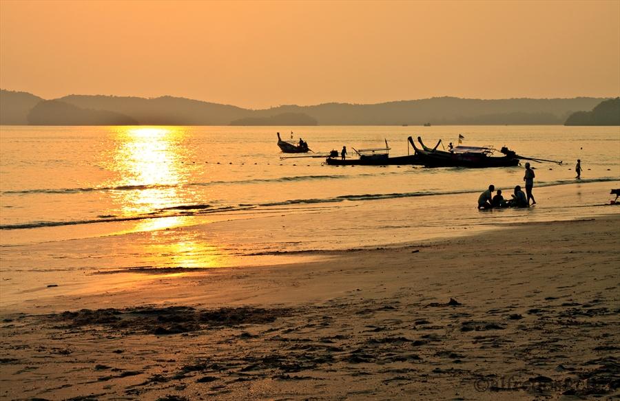 Feierabenstimmung am Krabi/Strand