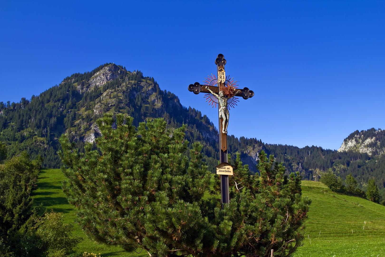 Feldkreuz vor Hirschberg in Bad Hindelang