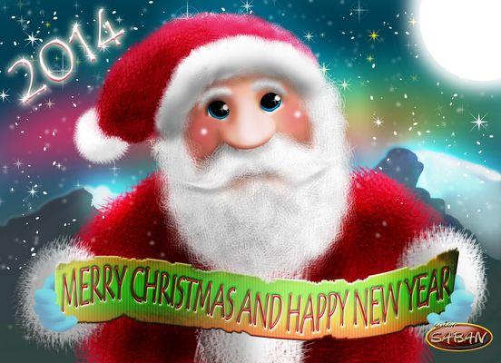 Feliz Navidad y Prospero Año 2014   ( Elaborado en Photoshop )