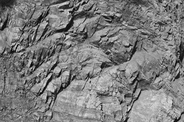 Fels-Struktur im Steinbruch