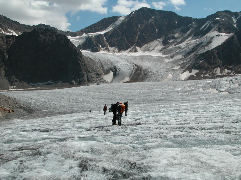 Fels und Eis so weit das Auge reicht