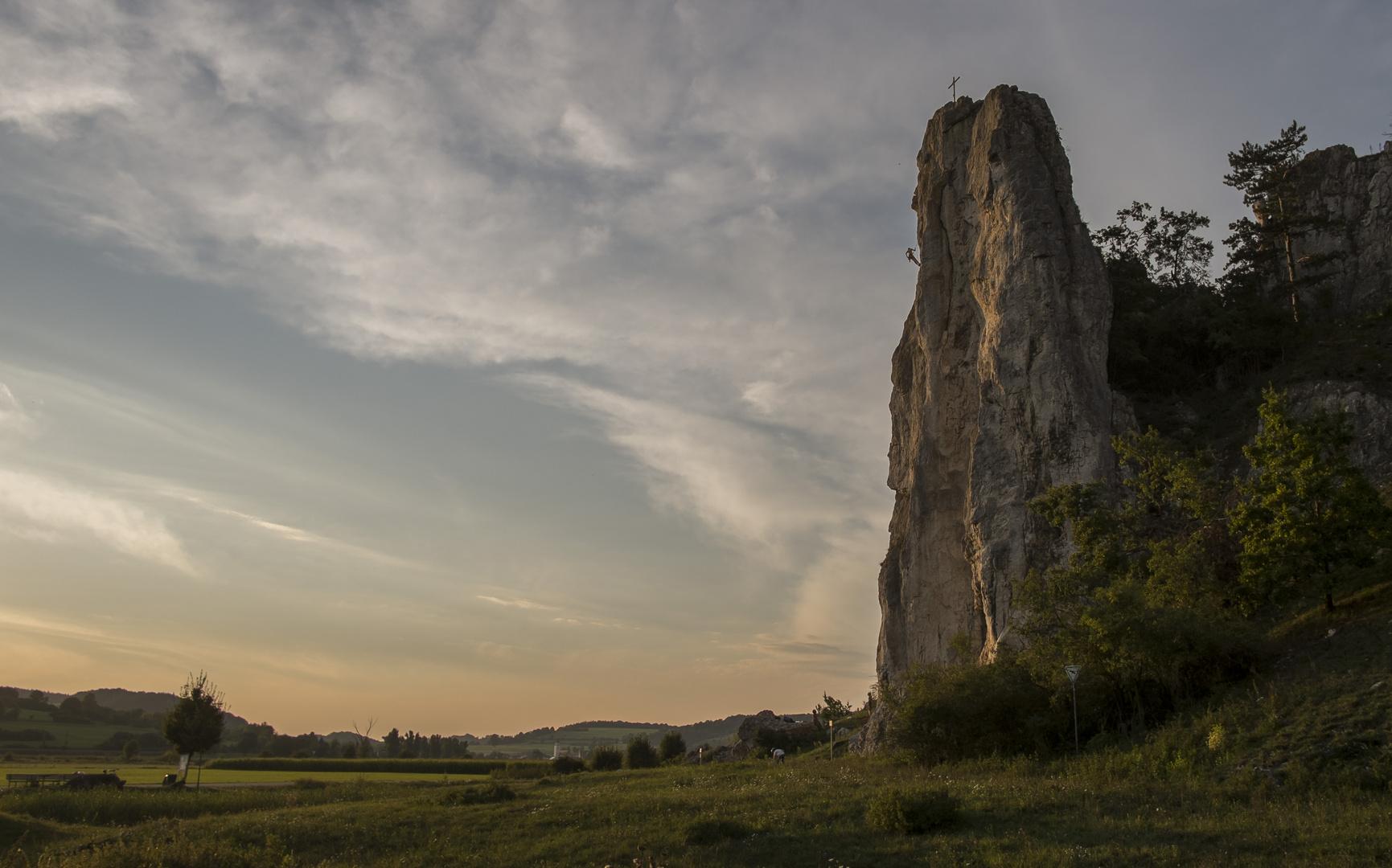 Felsen bei Dollnstein am Altmühltal