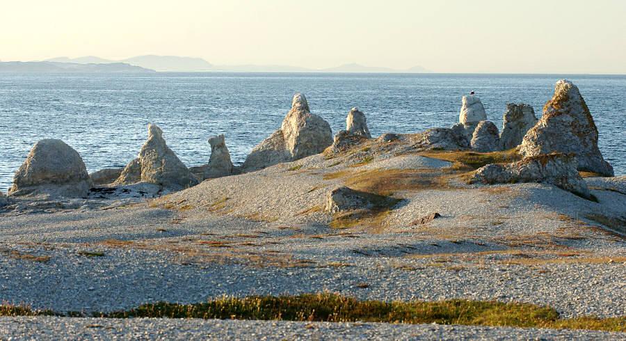 Felsenformationen in Trollholmsundet