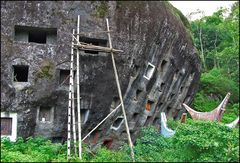 Felsengräber Bestattung der Toraja- Sulawesi- Celebes