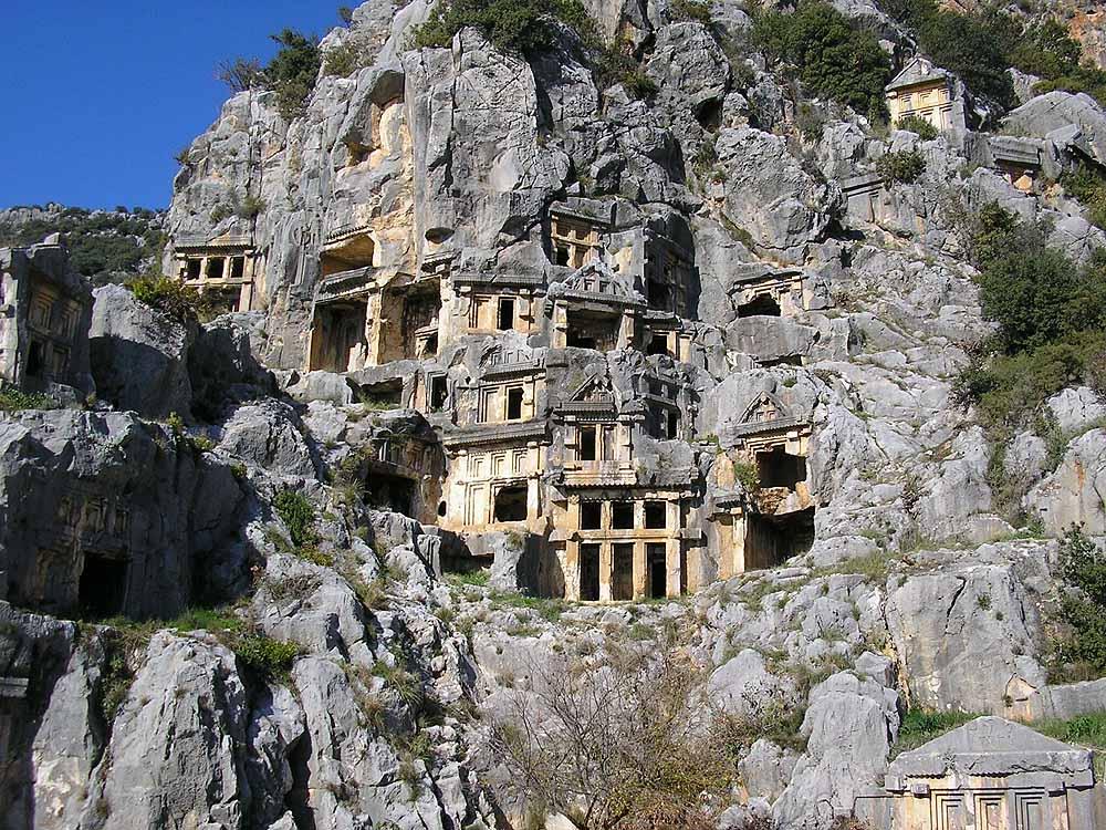 Felsengräber in Myra(Demre)