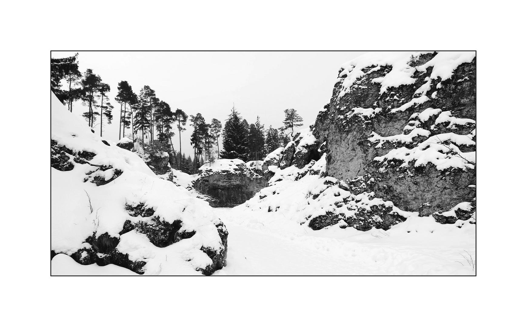 Felsenmeer im Wental - Februar 2013