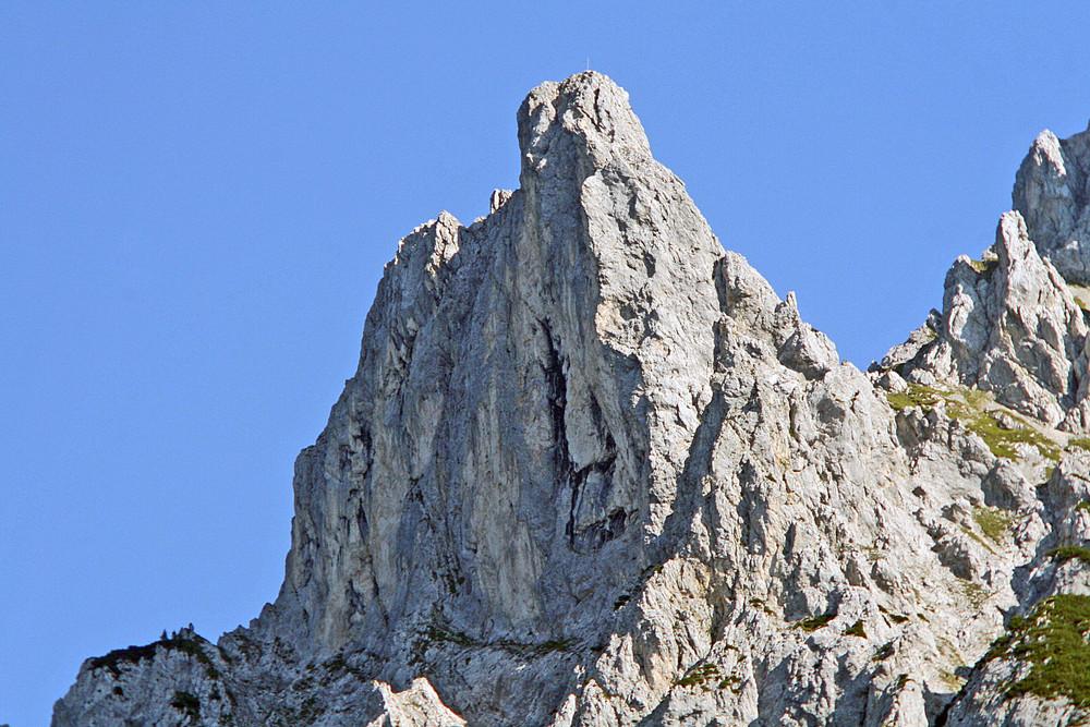 Felsnadel an der Karwendelspitze über Mittenwald