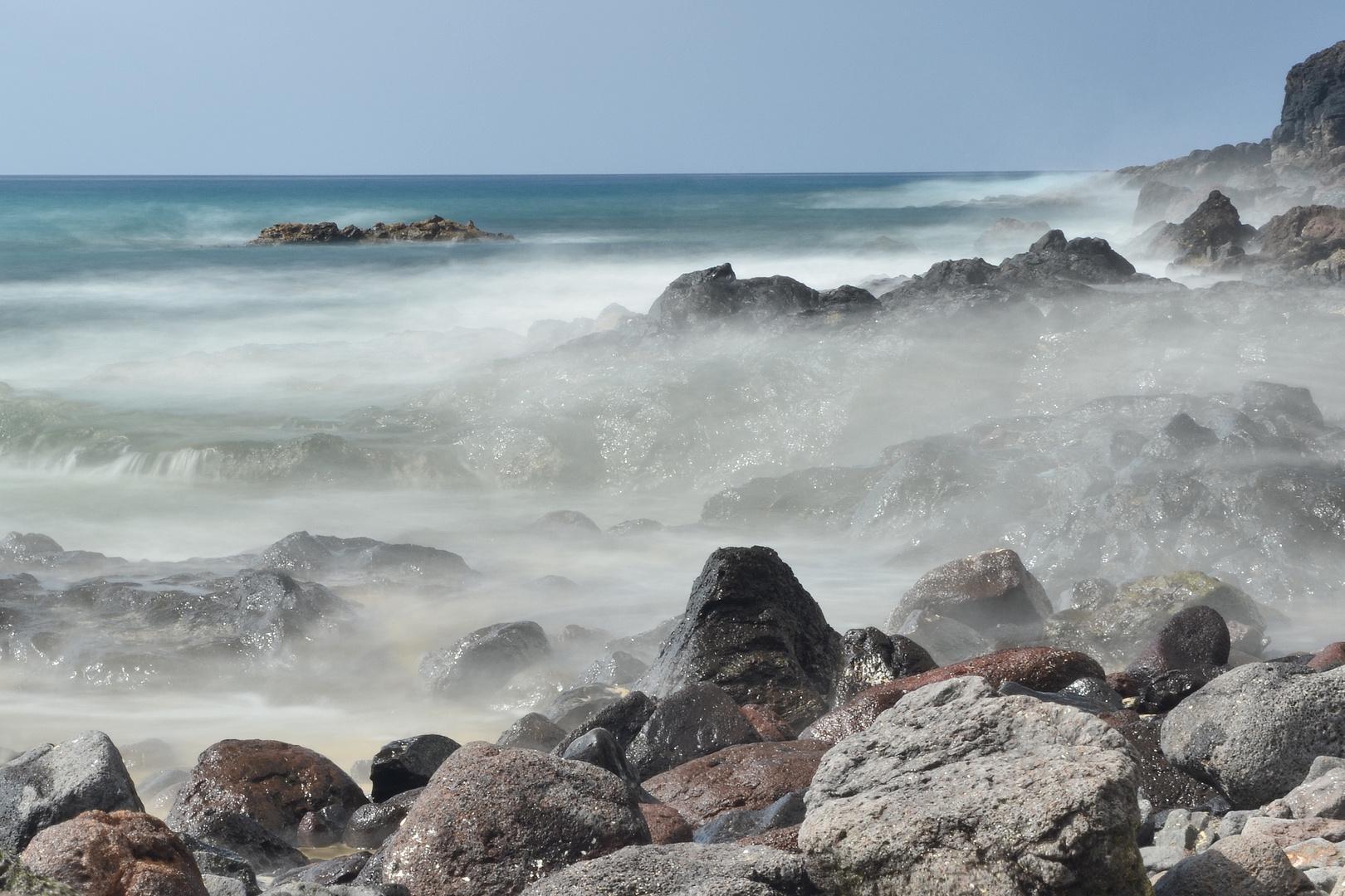 Felsstrand in Morro Jable/ Fuerteventura