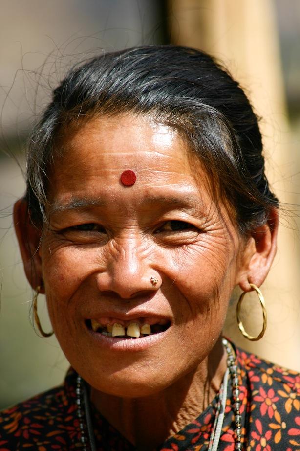 Femme paysanne sourde