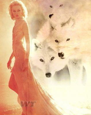 femme+loups