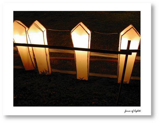 Fence of lights