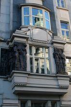 Fenster der Hochschule für Verwaltung, Wien, 8. Bezirk