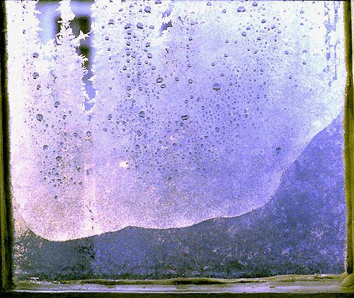 Fenster-Eisberge