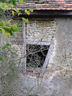 Fenster, halb zu...