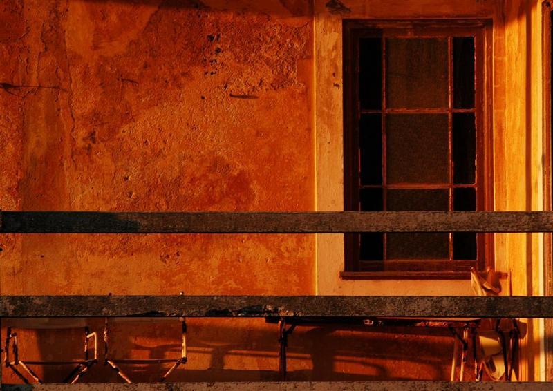 Fenster im Abendrot