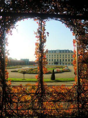 Fenster im Kronprinzengarten von Schloß Schönbrunn (Wien )