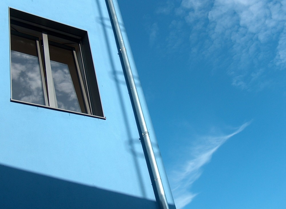 Fenster in Blau...