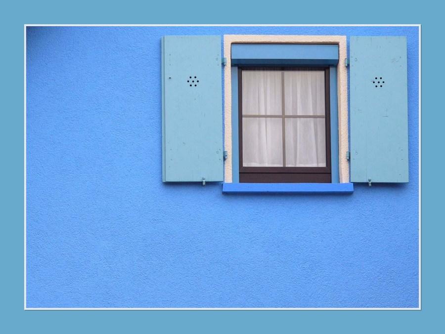 Fenster in blau