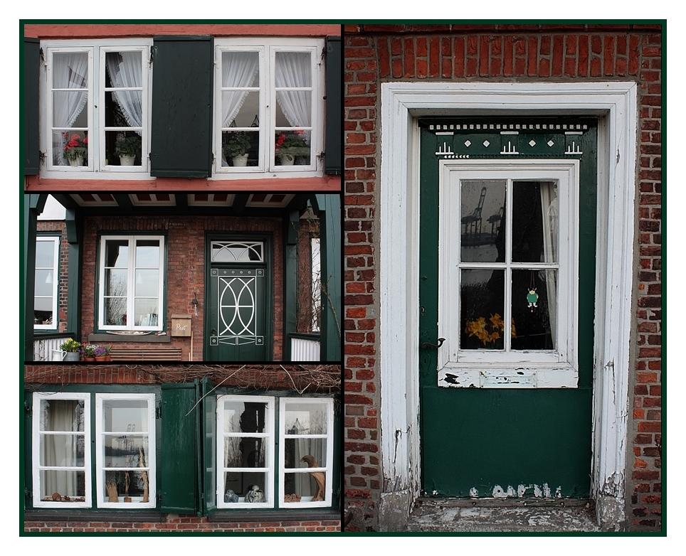 Fenster und Türen-Kapitänshäuschen in Övelgönne Hamburg