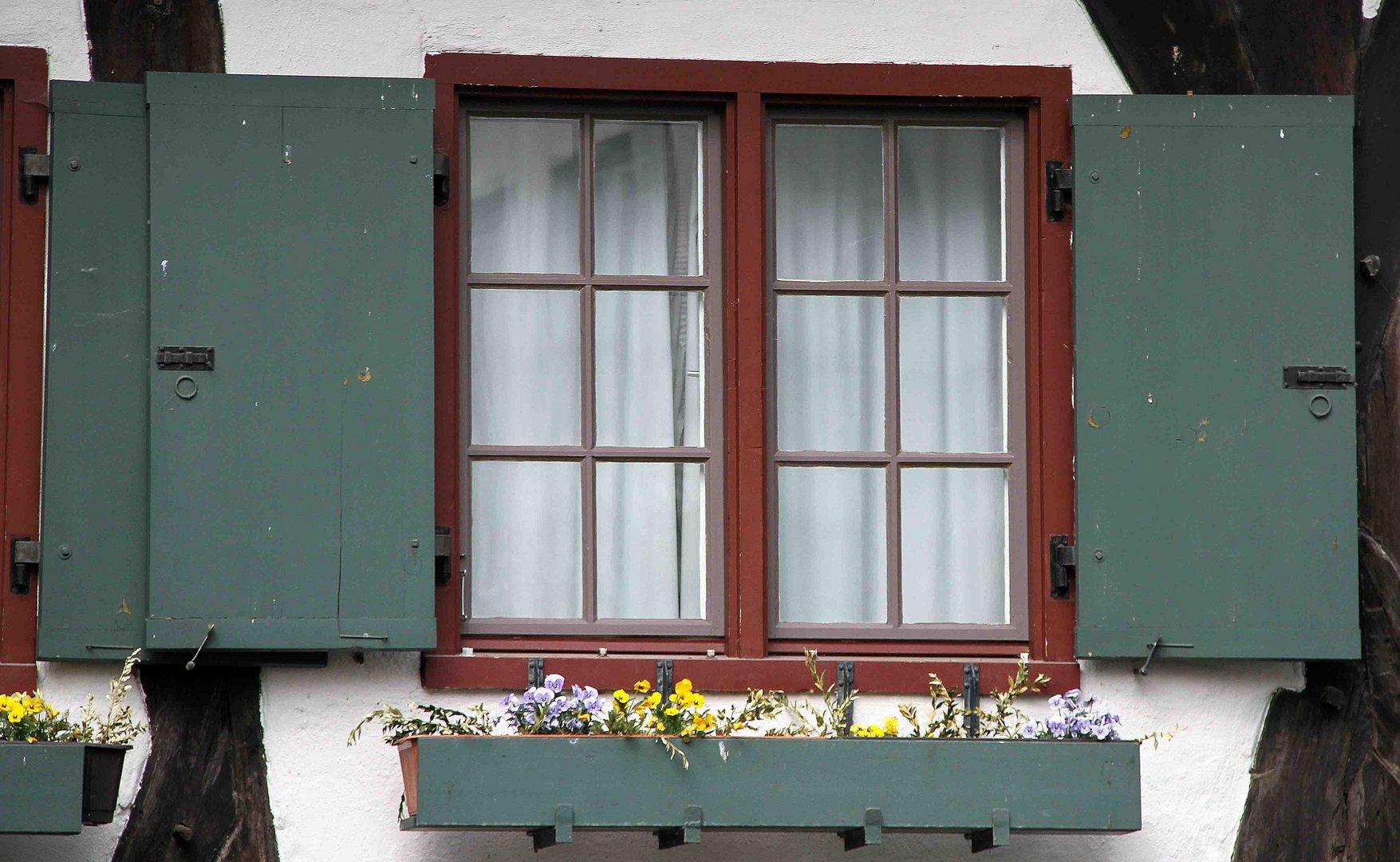 Fenster vom Schiefen Haus in Ulm