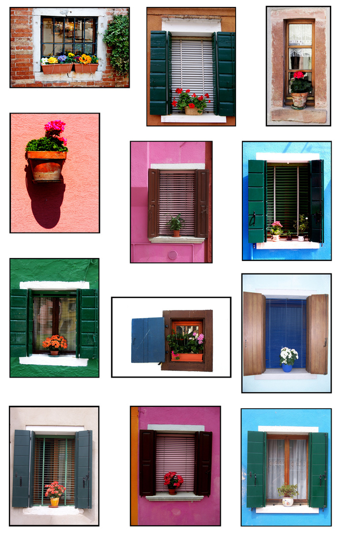 Fenster von Burano