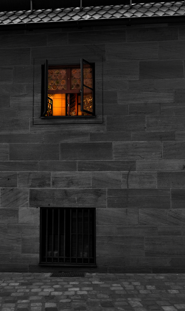 Fenster zum Hof, Nürnberg, Bratwurst-Häusle