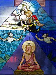 Fensterbild im Tempel