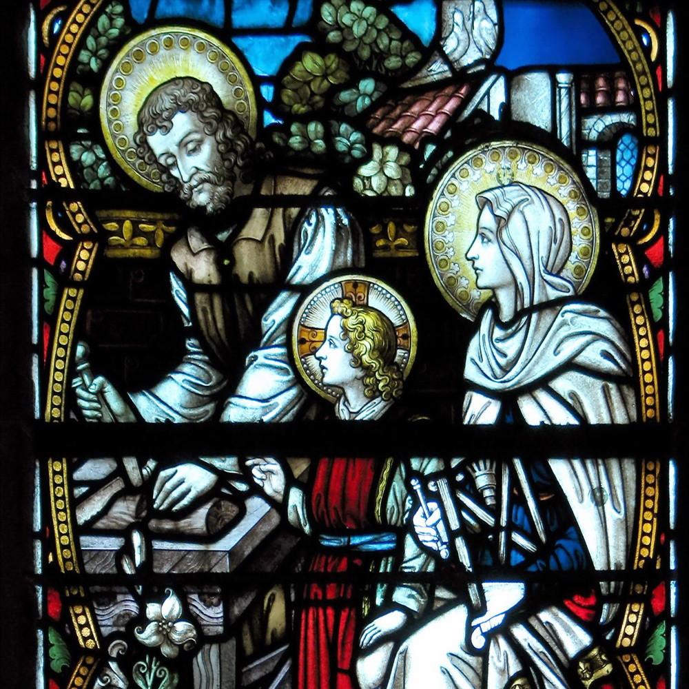 Fensterbild in St. Maximin Wülfrath-Düssel