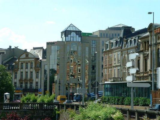 Fensterspiegelung, Stadt Luxemburg